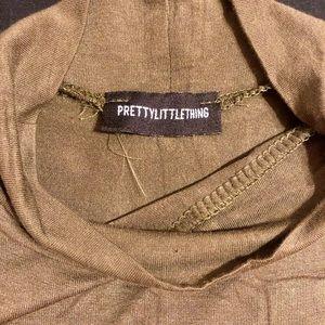 PrettyLittleThing Dresses - 💥2/$14💥 Olive green turtle neck dress